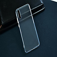 billige Mobilcovers-Etui Til Huawei P20 lite P20 Transparent Bagcover Ensfarvet Blødt TPU for Huawei P20 lite Huawei P20