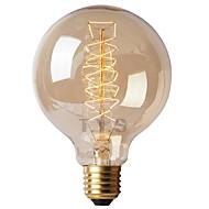tanie Żarówki tradycyjne-1szt 40 W x 4W E26/E27 G125 Ciepła biel 2200-2700k K Retro Przysłonięcia Dekoracyjna Żarówka Vintage Edison żarówka 220-240 V