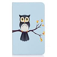 Недорогие Чехлы и кейсы для Samsung Tab-Кейс для Назначение SSamsung Galaxy Tab E 8.0 Бумажник для карт Кошелек со стендом С узором Авто Режим сна / Пробуждение Чехол Сова