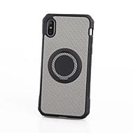Недорогие Кейсы для iPhone 8 Plus-Кейс для Назначение Apple iPhone X iPhone 8 Защита от удара Кольца-держатели Кейс на заднюю панель Камуфляж Мягкий ТПУ для iPhone X