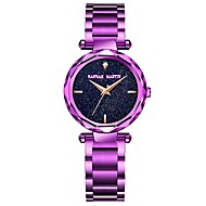 cheap Boy's Watches-Women's Bracelet Watch Japanese 30 m Chronograph Large Dial Stainless Steel Band Analog Luxury Sparkle Gold / Purple - Gold Purple Rose Gold Two Years Battery Life