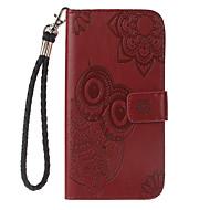 Недорогие Чехлы и кейсы для Galaxy Note-Кейс для Назначение SSamsung Galaxy Note 8 Бумажник для карт со стендом Флип Рельефный Чехол Сова Твердый Кожа PU для Note 8