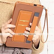 olcso iPad tokok-Case Kompatibilitás Apple iPad mini 4 Pénztárca Ütésálló Minta Automatikus alvó állapot/felébredés Héjtok Tömör szín Kemény PU bőr mert