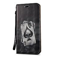Недорогие Чехлы и кейсы для Galaxy S9-Кейс для Назначение SSamsung Galaxy S9 S9 Plus Бумажник для карт Кошелек со стендом Флип Чехол Черепа Твердый Кожа PU для S9 Plus S9 S8