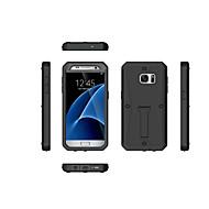 Недорогие Чехлы и кейсы для Galaxy S-Кейс для Назначение SSamsung Galaxy S7 edge S7 Защита от удара со стендом Кейс на заднюю панель броня Твердый Силикон для S7 edge S7 S6