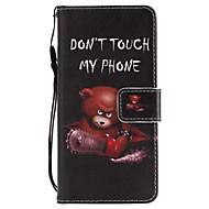 Недорогие Чехлы и кейсы для Galaxy A3(2017)-Кейс для Назначение SSamsung Galaxy A8 2018 A5(2017) Бумажник для карт Кошелек со стендом Флип Магнитный Чехол Животное Твердый Кожа PU