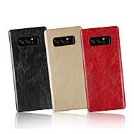 Недорогие Чехлы и кейсы для Galaxy Note-Кейс для Назначение SSamsung Galaxy Note 8 Рельефный Кейс на заднюю панель Однотонный Твердый Кожа PU для Note 8