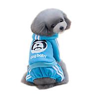 お買い得  -ネコ 犬 パーカー ジャンプスーツ 犬用ウェア 動物 グレー イエロー レッド ブルー ピンク コットン コスチューム ペット用 男性用 女性用 ファッション