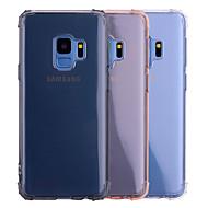 Недорогие Чехлы и кейсы для Galaxy S8-Кейс для Назначение SSamsung Galaxy S9 S9 Plus Защита от удара Полупрозрачный Прозрачный Кейс на заднюю панель Однотонный Мягкий ТПУ для