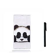 olcso Mobiltelefon tokok-Case Kompatibilitás Sony Xperia L2 Xperia L1 Áttetsző Fekete tok Panda Puha TPU mert Xperia XZ1 Compact Sony Xperia XZ1 Xperia XA2 Xperia