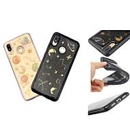 お買い得  携帯電話ケース-ケース 用途 Huawei P20 / P20 lite パターン / キラキラ仕上げ バックカバー 3Dカトゥーン / キラキラ仕上げ ソフト TPU のために Huawei P20 / Huawei P20 Pro / Huawei P20 lite