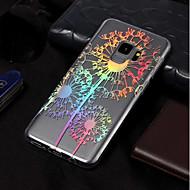 Недорогие Чехлы и кейсы для Galaxy S8-Кейс для Назначение SSamsung Galaxy S9 / S9 Plus Покрытие / С узором Кейс на заднюю панель одуванчик Мягкий ТПУ для S9 Plus / S9 / S8 Plus