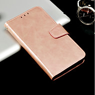 Недорогие Чехлы и кейсы для Galaxy A5(2017)-Кейс для Назначение SSamsung Galaxy A8 2018 A8 Plus 2018 Бумажник для карт со стендом Флип Чехол Однотонный Твердый Кожа PU для A3 (2017)