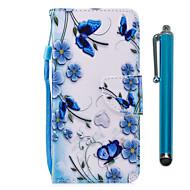 voordelige Mobiele telefoonhoesjes-hoesje Voor Sony Xperia XA2 Xperia L2 Kaarthouder Portemonnee met standaard Flip Magnetisch Volledig hoesje Vlinder Hard PU-nahka voor