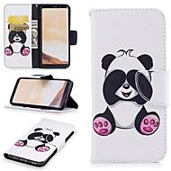 Недорогие Чехлы и кейсы для Galaxy S8-Кейс для Назначение SSamsung Galaxy S8 Бумажник для карт / Кошелек / со стендом Чехол Панда Твердый Кожа PU для S8