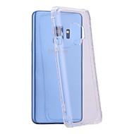 Недорогие Чехлы и кейсы для Galaxy S8-Кейс для Назначение SSamsung Galaxy S9 / S9 Plus Защита от удара / Прозрачный Кейс на заднюю панель Однотонный Мягкий ТПУ для S9 Plus /