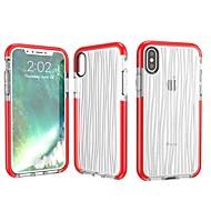 Недорогие Кейсы для iPhone 8 Plus-Кейс для Назначение Apple iPhone X / iPhone 8 Полупрозрачный Кейс на заднюю панель Однотонный Мягкий ТПУ для iPhone X / iPhone 8 Pluss /