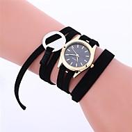 abordables Relojes de Moda-Mujer Reloj de Moda / Reloj de Vestir Chino Cronógrafo Piel Banda Casual / Elegante Negro / Blanco / Rosa
