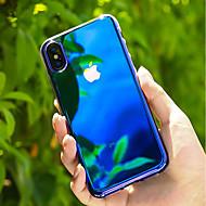 Недорогие Кейсы для iPhone 8-Кейс для Назначение Apple iPhone X / iPhone 8 Прозрачный / Градиент цвета Кейс на заднюю панель Градиент цвета Твердый ПК для iPhone X /