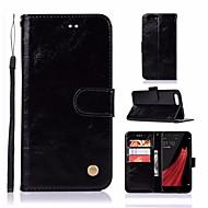 preiswerte Handyhüllen-Hülle Für OPPO R11 Geldbeutel / Kreditkartenfächer / mit Halterung Ganzkörper-Gehäuse Solide Hart PU-Leder für Oppo R11