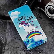 voordelige Mobiele telefoonhoesjes-hoesje Voor Xiaomi Mi 6X / Mi 5X Kaarthouder / Portemonnee / met standaard Volledig hoesje Eenhoorn Hard PU-nahka voor Xiaomi Mi 6X(Mi