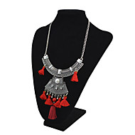 cheap -Women's Synthetic Tanzanite / Rhinestone Pendant Necklace  -  Vintage / Fashion / Statement Black / Red / Blue 46+6cm Necklace For