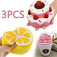 お買い得  -MINGYUAN ストレス解消グッズ ケーキ 親子インタラクション / 減圧玩具 / かわいい 3pcs フリーサイズ ギフト