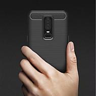 お買い得  携帯電話ケース-ケース 用途 OnePlus OnePlus 6 / OnePlus 5T 耐衝撃 / 超薄型 バックカバー ソリッド ソフト TPU のために OnePlus 6 / One Plus 5 / OnePlus 5T