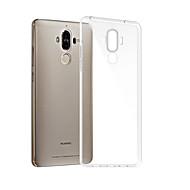 お買い得  携帯電話ケース-ケース 用途 Huawei Mate 9 クリア バックカバー ソリッド ソフト TPU のために Mate 9