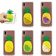 お買い得  携帯電話ケース-ケース 用途 Huawei P20 Pro / P10 リキッド バックカバー キラキラ仕上げ / 果物 ソフト TPU のために Huawei P20 / Huawei P20 Pro / Huawei P20 lite