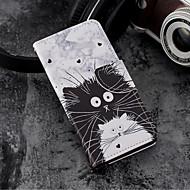 billige Mobilcovers-Etui Til Huawei P20 / P20 lite Pung / Kortholder / Med stativ Fuldt etui Tegneserie Hårdt PU Læder for Huawei P20 / Huawei P20 lite / P10