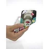 Недорогие Кейсы для iPhone 8-Кейс для Назначение Apple iPhone X / iPhone 7 Ультратонкий / С узором / Милый Кейс на заднюю панель Соблазнительная девушка / Цветы Мягкий
