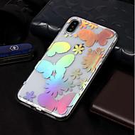 Недорогие Кейсы для iPhone 8-Кейс для Назначение Apple iPhone X / iPhone 8 IMD / С узором Кейс на заднюю панель Бабочка Мягкий ТПУ для iPhone X / iPhone 8 Pluss /