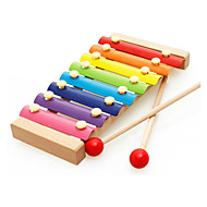 abordables Juguetes Clásicos-Pandereta Gradiente de Color Unisex Chico Chica Juguet Regalo 1 pcs / Madera
