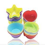 お買い得  キッチン用小物-ベークツール シリコーンゲル 多機能 / DIY / クリエイティブキッチンガジェット ケーキのための ケーキ型 10個