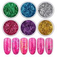 cheap -6pcs Nail Glitter Glitters Cute Daily Nail Art Forms