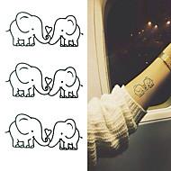 abordables Tatuajes Temporales-Adhesivo / Pegatina tatuaje brazo Los tatuajes temporales 10 pcs Series de Animal Artes de cuerpo
