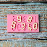 abordables Gran promoción para el hogar-Herramientas para hornear Silicona Vacaciones / Dibujo 3D / Creativo Pastel / Chocolate / Para utensilios de cocina Redondo Moldes para pasteles 1pc