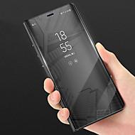 tanie Etui na telefony-Kılıf Na Huawei P20 lite / P20 Z podpórką / Lustro Pełne etui Jendolity kolor Twarde Skóra PU na Huawei P20 lite / Huawei P20 Pro /
