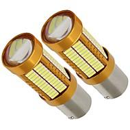 Недорогие Задние фонари-2шт высокая освещенность светимость золотистый корпус рассеивание тепла алюминием 1156 1141 p21w шина с шиной 21w стоп-сигнал