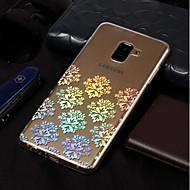 Недорогие Чехлы и кейсы для Galaxy A3(2017)-Кейс для Назначение SSamsung Galaxy A8 2018 / A8 Plus 2018 Покрытие / С узором Кейс на заднюю панель Кружева Печать Мягкий ТПУ для A3