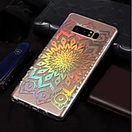 Недорогие Чехлы и кейсы для Galaxy Note 8-Кейс для Назначение SSamsung Galaxy Note 8 Покрытие / С узором Кейс на заднюю панель Цветы Мягкий ТПУ для Note 8