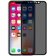 Недорогие Защитные плёнки для экрана iPhone-Защитная плёнка для экрана для Apple iPhone X Закаленное стекло 1 ед. Защитная пленка на всё устройство 3D закругленные углы / Anti-Spy /