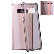 Недорогие Чехлы и кейсы для Galaxy Note 8-Кейс для Назначение SSamsung Galaxy Note 8 Защита от удара / Полупрозрачный Кейс на заднюю панель Однотонный Мягкий ТПУ для Note 8