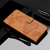preiswerte Handyhüllen-Hülle Für Motorola MOTO G6 / Moto G6 Plus Geldbeutel / Kreditkartenfächer / mit Halterung Ganzkörper-Gehäuse Schmetterling Hart PU-Leder für Moto Z Force / Moto X Style / MOTO G6