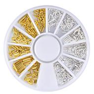 abordables Maquillaje y manicura-1pcs Joyería de uñas Metálico Diseño especial Casual / Diario Nail Art Design