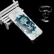 Недорогие Чехлы и кейсы для Galaxy S9-Кейс для Назначение SSamsung Galaxy S9 / S9 Plus Защита от удара / Полупрозрачный Кейс на заднюю панель Черепа Мягкий ТПУ для S9 Plus /