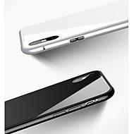 Недорогие Кейсы для iPhone 8 Plus-Кейс для Назначение Apple iPhone X / iPhone 8 / iPhone 8 Plus Защита от удара / Магнитный Кейс на заднюю панель Однотонный Твердый Закаленное стекло / Алюминий для iPhone X / iPhone 8 Pluss / iPhone 8