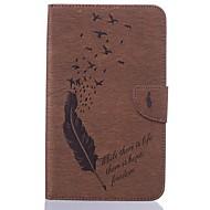 Недорогие Чехлы и кейсы для Samsung Tab-Кейс для Назначение SSamsung Galaxy Tab A 7.0 (2016) Бумажник для карт Кошелек со стендом С узором Авто Режим сна / Пробуждение Чехол