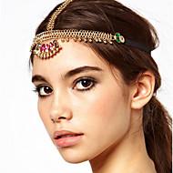 cheap -Women's Bohemian / Ethnic Head Chain - Color Block Cut Out